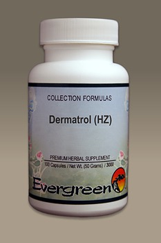 C3123 Evergreen Herbs Dermatrol (HZ) Capsules 100 count Homeopathy Holistic Healthcare Natural Medicine Center Lakeland Central Florida