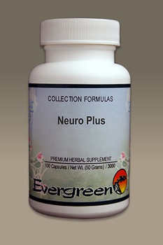 C3522 Evergreen Herbs Neuro Plus Capsules 100 count Homeopathy Holistic Healthcare Natural Medicine Center Lakeland Central Florida