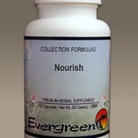 C3523 Evergreen Herbs Nourish (Chronic) Capsules 100 count Homeopathy Holistic Healthcare Natural Medicine Center Lakeland Central Florida