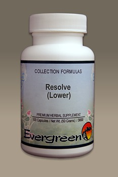 C3682 Evergreen Herbs Resolve (Lower) Capsules 100 count Homeopathy Holistic Healthcare Natural Medicine Center Lakeland Central Florida